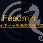 「Feedmin」にアイキャッチ画像を表示させるには??